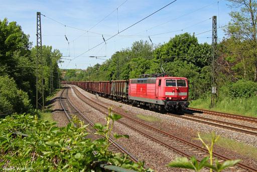 181 204 mit EZ 50852 Völklingen - Mannheim Rbf Gr.M (Sdl. Frachten), Saarbrücken 18.05.2017