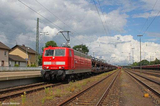 181 213 mit GA 44430 Einsiedlerhof - Forbach/F (Villers Cotterrets) (Sdl.PKW), 27.06.2013