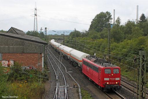 151 021 mit XP 49248 Hüls AG - Forbach/F (Creutzwald), Bous 12.09.2013