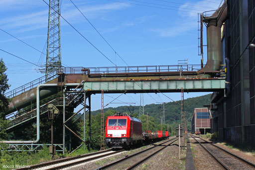 186 332 mit EK 55975 Völklingen Walzwerk - Saarbrücken Rbf Nord, 21.08.2013