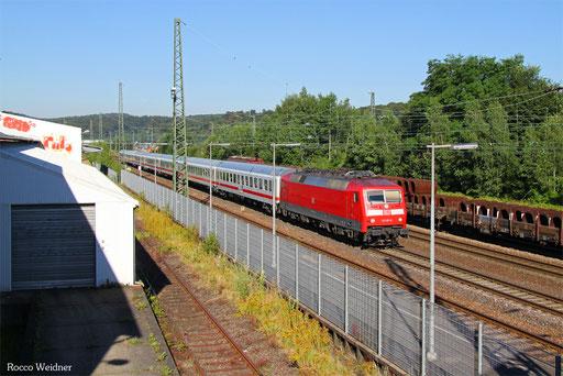 120 151 mit IC 2059 Saarbrücken Hbf - Stuttgart Hbf, St.Ingbert 20.06.2016