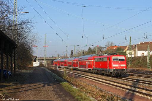 111 115 mit RE 4273 Trier Hbf - Mannheim Hbf, Saarbrücken-Burbach 18.02.2013