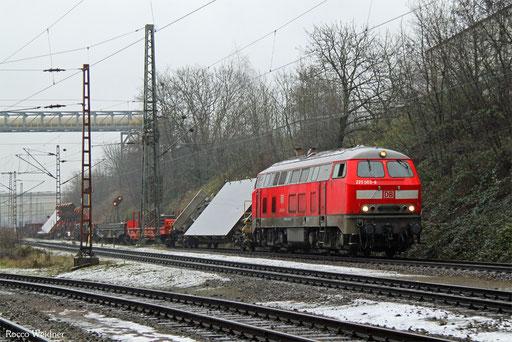 218 003 mit EK 55410 Dillingen Hochofen Hütte - Saarbrücken Rbf Nord, 11.01.2017