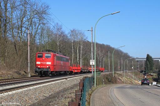 151 021 mit GM 61872 Neunkirchen(Saar) Hbf - Völklingen, Sulzbach 05.03.2013 (Saar)
