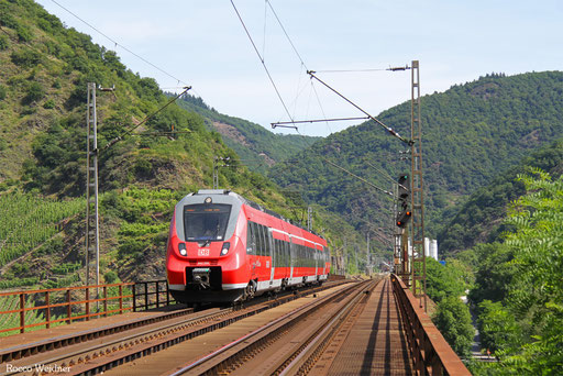 442 204 als RB 12108 Koblenz Hbf - Trier Hbf, Moselbrücke Ediger-Eller