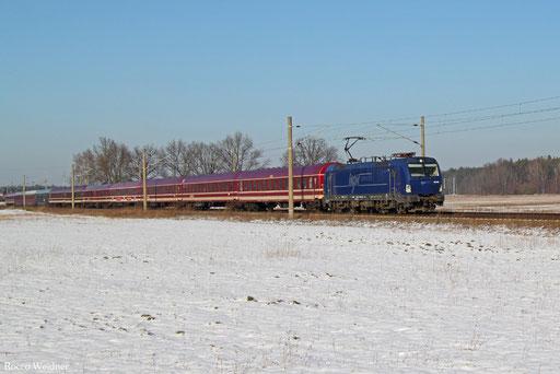 193 845 mit DPF 20861 Lübeck Hbf - Dresden Hbf, Schmerkendorf 22.01.2017