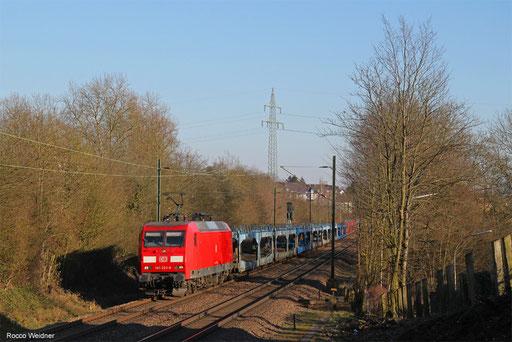 145 023 mit EZ 68195 Saarbrücken Rbf West - Dillingen Ford, Altenkessel 14.02.2018