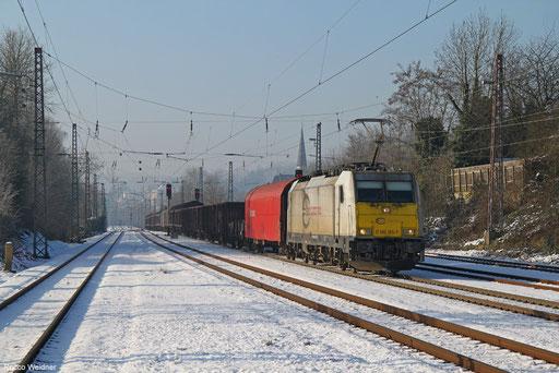 186 165 mit EZ 44205 (Irun/E) Hendaye/F - Mannheim Rbf Gr.M, Dudweiler 20.01.2016