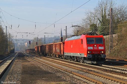 185 032 mit GM 60423 Völklingen - Neunkirchen(Saar) Hbf, Dudweiler 16.02.2017