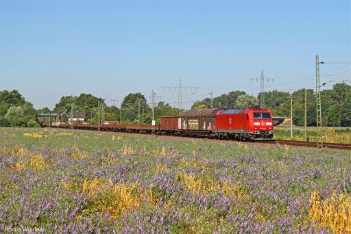 185 021 mit EZ 51919 Saarbrücken Rbf Ost - Mannheim Rbf Gr.M, Vogelbach 19.07.2016