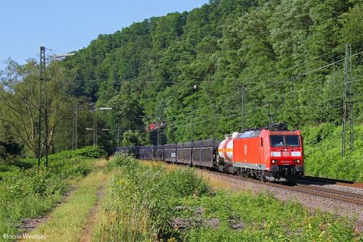 185 024 mit EZ 51919 Saarbrücken Rbf Ost - Mannheim Rbf Gr. M, Scheidt(Saar) 15.07.2016