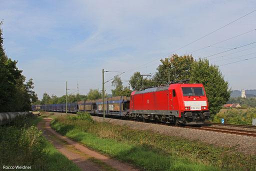 186 329 mit EK 55981 Fürstenhausen - Saarbrücken Rbf Nord, Gersweiler-Ottenhausen 02.10.2013