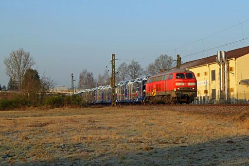 218 003 mit EK 55408 Saarbrücken Rbf Nord - Einsiedlerhof, Bruchmühlbach 14.02.2017