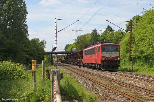 155 219 mit EK 55923 Dillingen Hochofen Hütte - Saarbrücken Rbf Nord, Saarlouis-Roden 27.05.2013