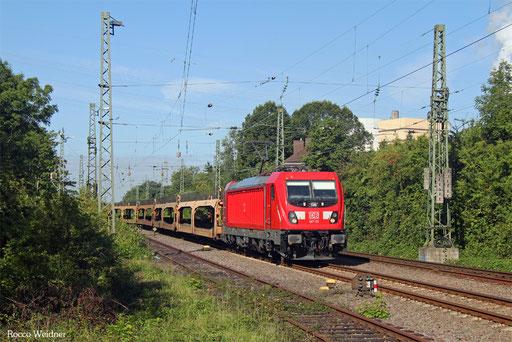 187 115 mit GA 62377 Fürstenhausen - Dillingen Ford (Sdl. leere Laes aus Abstellung), 22.08.2017