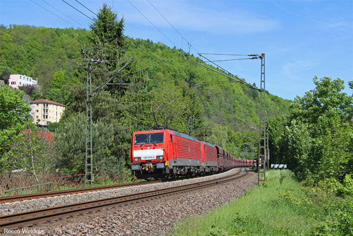DT 189 043 + 189 033 mit GM 48721 Maasvlakte Oost - Dillingen Hochofen Hütte, Scheidt(Saar) 16.05.2017