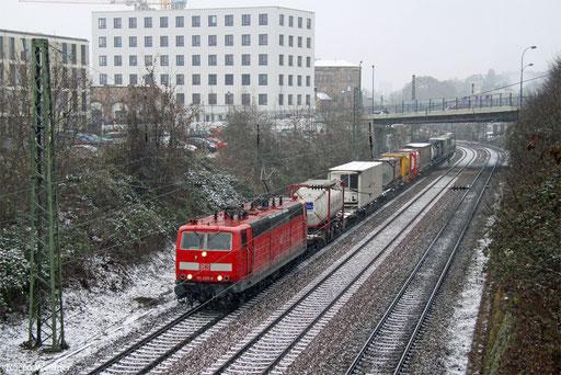 181 205 mit KT 98842 (Port-Bou/E) Forbach/F - Ludwigshafen/Rhein BASF Ubf  (Sdl. KV), Saarbrücken 02.01.2017