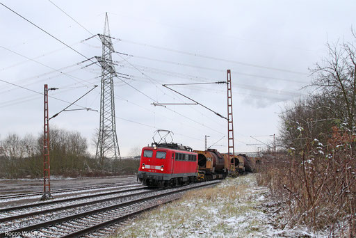 139 311 mit GM 61830 Dillingen Hochofen Hütte - Völklingen, Bous 12.01.2013