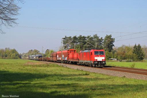186 337 EZ 51917 Saarbrücken Rbf Ost - Mannheim Rbf Gr.K, Vogelbach 02.05.2016