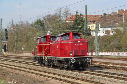 212 209 (364 403) als DGS 69519 Ehrang Nord - Saarbrücken Rbf Nord (Sdl.), Burbach 23.03.2017
