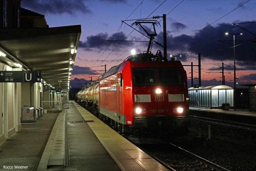 185 038 mit EZ 44215 Woippy/F - Mannheim Rbf Gr.M, Forbach/F 22.01.2018