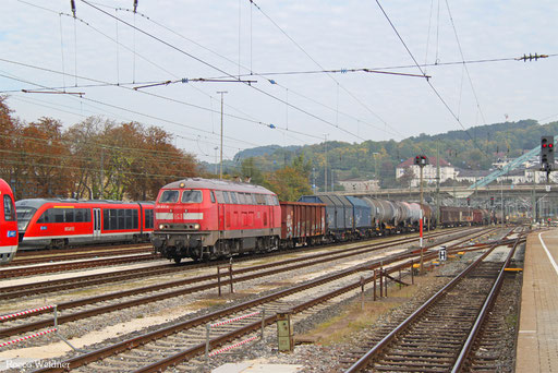 218 831 mit EZ 46633 Mannheim Rbf - Zürich Limmattal RB/CH (Chiasso/I) (Sdl. Frachten, Rastatt Umleiter), Ulm Hbf 22.09.2017