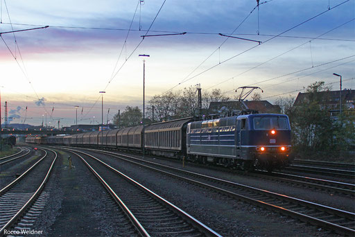181 201 mit EZ 98817 (Lerouville) Bouzonville/F - Manhheim Rbf Gr.M (Sdl. Frachten ex.EZ 44401), Neunkirchen(Saar) 31.10.2013
