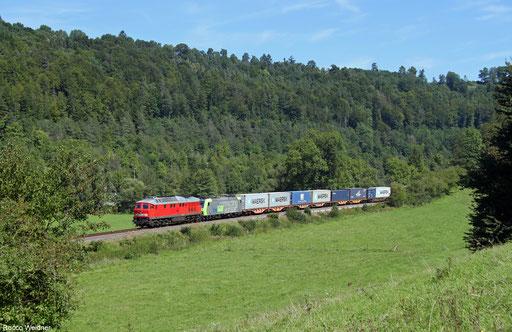 DB Cargo 232 609 und BLS Cargo 485 008 mit DGS 69009 Neuss - Schaffhausen