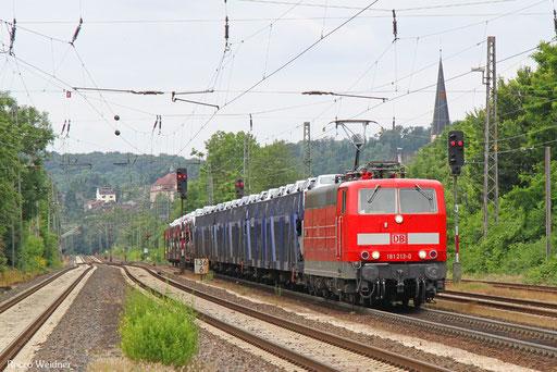 181 213 mit EK 55982 Saarbrücken Rbf Nord - Einsiedlerhof, Dudweiler 05.07.2016