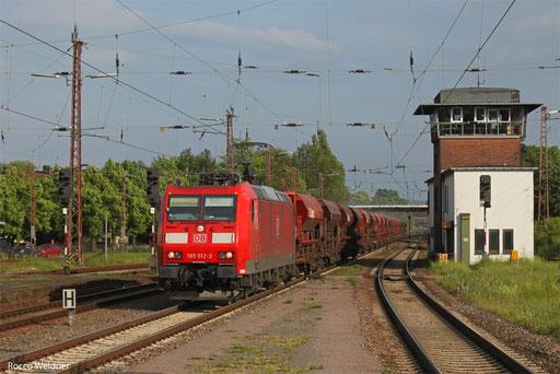 185 012 mit XP 63028 Hagenbach III - Ehrang Nord, Dillingen(Saar) 01.06.2013
