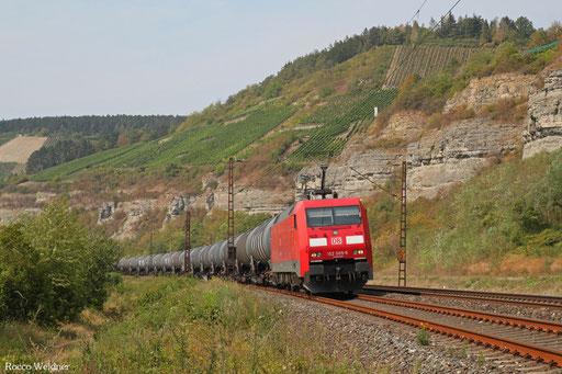 152 005 mit GC 47985 Großkorbetha - Passau Gbf (Groß Schwechat)  (Sdl. Methanol in Za)