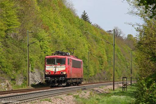 155 219 als T 67635 Saarbrücken Rbf - Dillingn Hochofen Hütte, Völklingen 12.04.2017