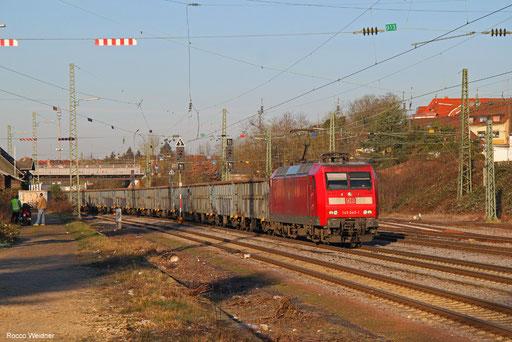 145 045 mit EZ 45679 Rodange/LU - Homburg(Saar) Hbf, Burbach 14.022018