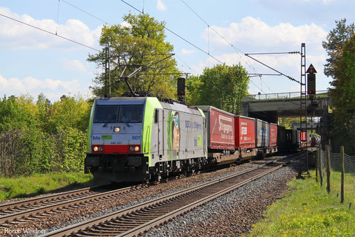 486 501 mit DGS 42014 Gallarate/I - Wanne-Eickel Wst, Wiesental 04.05.2016