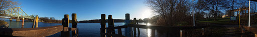 Berlin, Glienicker Brücke, 28.12.2012, Panoramafoto