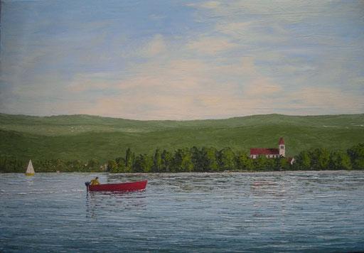 Insel Reichenau (Öl auf Leinwand, 50 x 70 cm, reserviert)