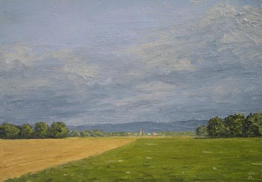 Im Elsass (Öl auf Leinwand, 14 x 20 cm)