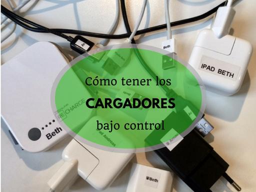 organiza los cargadores de dispositivos móviles - AorganiZarte.com