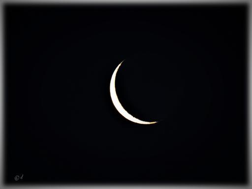 Die Mondsichel (abnehmender Mond)