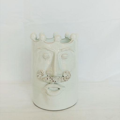 Vaso con viso h.28 x15