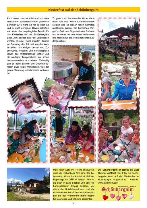 Weißnbocha Dörfblattl - 2. Ausgabe 2015