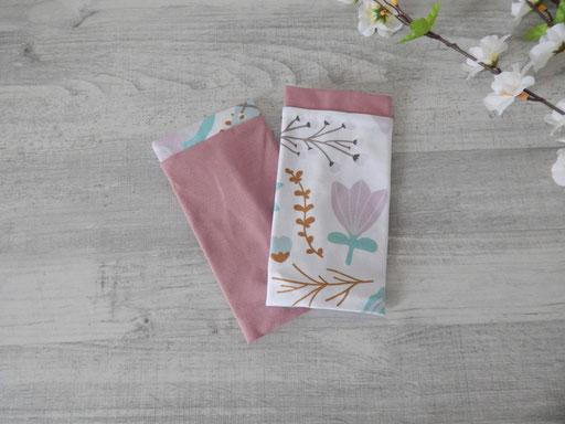 Armstulpen Blütentraum, kombiniert mit Unijersey in altrosa