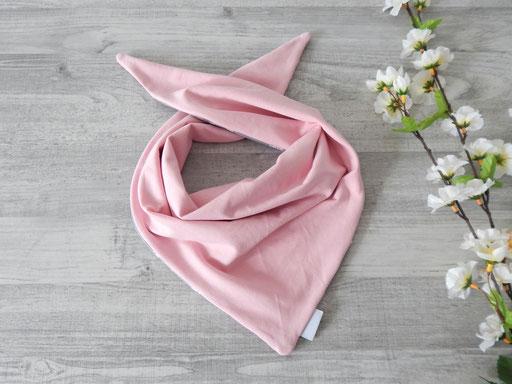 Knotentuch Wendeseite uni rosa