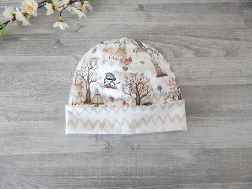 Mit Umschlag als normale Mütze tragbar