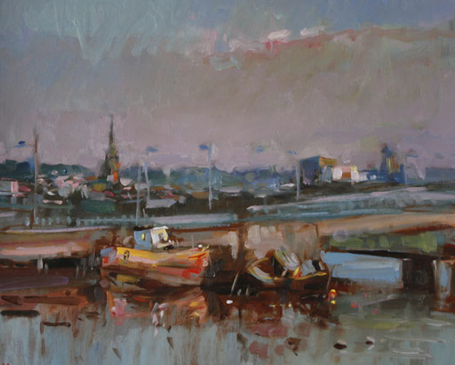 THe Bridge Wexford  oil on panel
