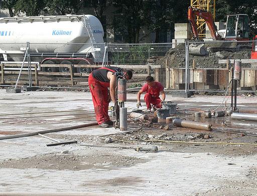 BSNG Betonbohr- & Sägetechnik Neustadt-Glewe - Bohrung Kampfmittel-Tirs