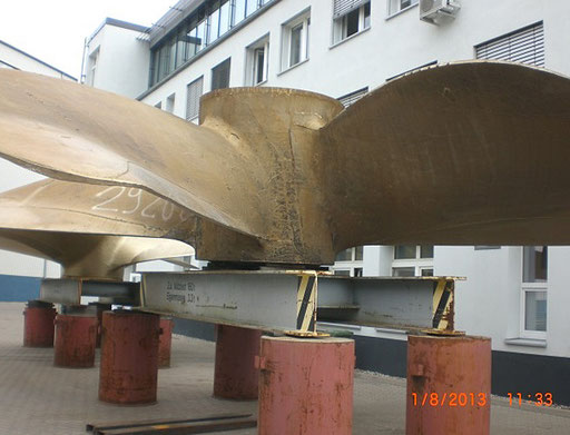 BSNG Betonbohr- & Sägetechnik Neustadt-Glewe - Seilsägen Schiffsschraube 70t Propeller