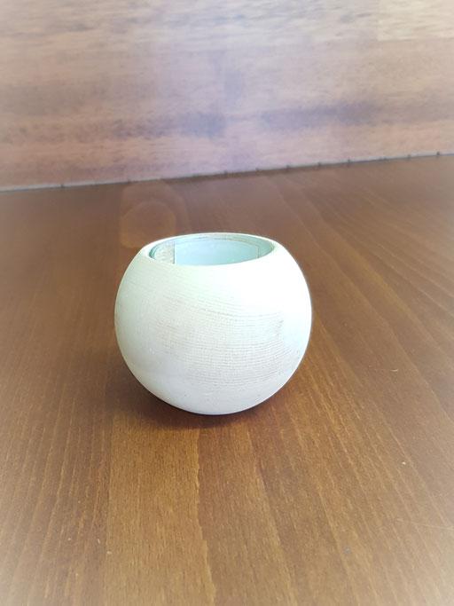 Zirben Teelichthalter rund