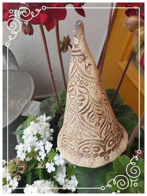 Dekostecker getöpfert, aus Ton, für Blumentopf, Blumenstecker, Handmade by Wilma, Deko-Mühle, Brakel