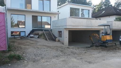 Vorarbeiten ab Rohplanie Haus Teil ost